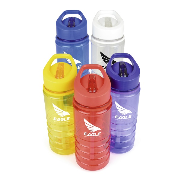 Charlotte 550ml translucent coloured drinks bottle